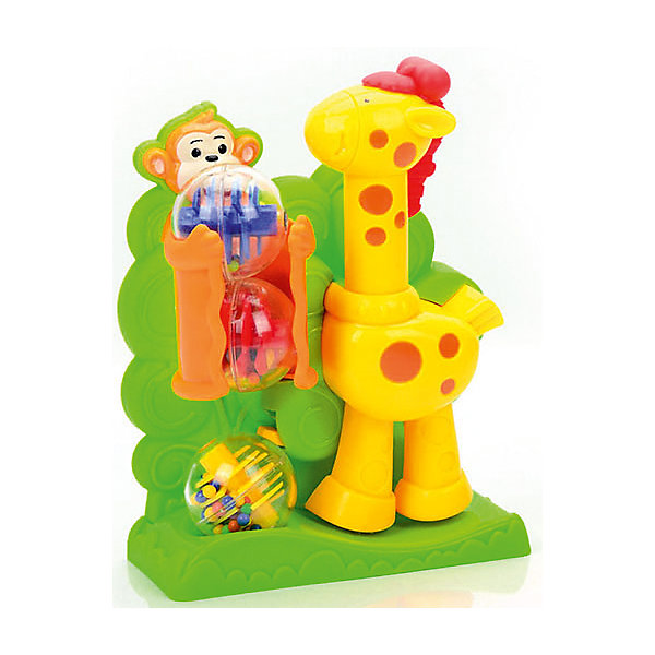 Развивающая игрушка Mioshi Жираф с шарикамиРазвивающие центры<br>Характеристики товара:<br><br>• возраст: от 1 года;<br>• материал: пластик;<br>• упаковка: картонная коробка блистерного типа;<br>• размер упаковки: 25х25х8 см;<br>• вес: 487 гр.;<br>• бренд, страна: Mioshi Baby, Китай;<br>• страна-производитель: Китай.<br><br>Развивающая игра с шариками «Жираф» - эта игрушка подарит много положительных эмоций малышу.<br><br>При нажатии на голову жираф ногой выталкивает шарик из лунки, а обезьянка подаёт следующий шарик. Игра развивает: мелкую моторику, логическое мышление, координацию движений и концентрацию внимания. <br><br>Многофункциональная игрушка в виде забавных жирафика и обезьянки идеально подходит для повседневных игр Вашего любознательного крохи.<br><br>Игрушка выполнена в ярком дизайне и из безопасных материалов.<br><br>Развивающую игру с шариками «Жираф» от Mioshi Baby, можно купить в нашем интернет-магазине.<br>Ширина мм: 250; Глубина мм: 250; Высота мм: 80; Вес г: 487; Возраст от месяцев: 12; Возраст до месяцев: 2147483647; Пол: Унисекс; Возраст: Детский; SKU: 7461024;