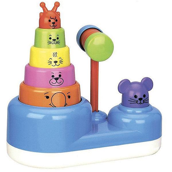 Пирамидка с молоточком Mioshi Веселые зверушкиРазвивающие игрушки<br>Характеристики товара:<br><br>• возраст: от 1 года;<br>• материал: пластик;<br>• упаковка: картонная коробка;<br>• размер упаковки: 22,5х12х17 см;<br>• вес: 667 гр.;<br>• бренд, страна: Mioshi Baby, Китай;<br>• страна-производитель: Китай.<br><br>Яркая, интересная пирамидка с формочками станет любимой игрушкой Вашей крохи с первых дней жизни.<br><br>Она поможет малютке развить мышление, мелкую моторику, восприятие формы и цвета предметов, а также слух и зрение.<br><br>Игрушки Mioshi созданы специально для малышей, которые только начинают познавать этот волшебный мир. Дети в раннем возрасте всегда очень любознательны, они тщательно исследуют всё, что попадает им в руки. Заботясь об их здоровье и безопасности, Mioshi выпускает только качественную продукцию, которая прошла сертификацию.<br><br>Пирамидку с молоточком «Веселые зверюшки»  от Mioshi Baby, можно купить в нашем интернет-магазине.<br><br>Ширина мм: 225<br>Глубина мм: 120<br>Высота мм: 170<br>Вес г: 667<br>Возраст от месяцев: 12<br>Возраст до месяцев: 2147483647<br>Пол: Унисекс<br>Возраст: Детский<br>SKU: 7461025