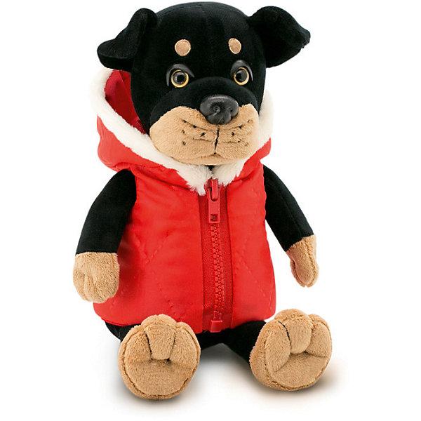 Мягкая игрушка Orange Ротвейлер Макс, 35 смСимвол года<br>Характеристики товара:<br><br>• возраст: от 3 лет;<br>• цвет: черный, красный;<br>• высота игрушки: 35 см.;<br>• состав: искусственный мех, текстиль, пластик, наполнитель;<br>• упаковка: картонная коробка;<br>• вес в упаковке: 455 гр.;<br>• бренд, страна: Orange, Россия;<br>• страна-производитель: Китай.<br><br>Мягкая игрушка «Ротвейлер Макс» торговой марки Orange может привести в восторг многих детей. Послужит ребенку не только отличном подарком, но и украсит интерьер дома, придаст комнате атмосферу уюта и тепла. С Максом можно весело играть, спать и гулять.<br><br>Забавный пёс Макс черного цвета одет в теплую жилетку красного цвета на молнии. Размер игрушки составляет 35 см. Выполнена из искусственного меха, приятного на ощупь; в качестве наполнителя использованы полиэфирное волокно и полиэтиленовые гранулы. Аккуратно простроченные швы надежно удерживают внутреннюю набивку. <br><br>Все игрушки Российской компании Orange имеют свою яркую индивидуальность, но их, безусловно, объединяет отменное качество, стильный дизайн, привлекательные цены и любовь детей, которые уже познакомились с этими уникальными игрушками.<br><br>Мягкую игрушку «Ротвейлер Макс», сидячий, 35 см., Orange можно купить в нашем интернет-магазине.<br><br>Ширина мм: 180<br>Глубина мм: 170<br>Высота мм: 350<br>Вес г: 456<br>Возраст от месяцев: 36<br>Возраст до месяцев: 180<br>Пол: Унисекс<br>Возраст: Детский<br>SKU: 7462214