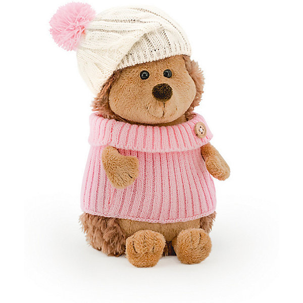 Мягкая игрушка Orange Ёжик Колюнчик в шапке с розовым помпоном, 20 смМягкие игрушки животные<br>Характеристики товара:<br><br>• возраст: от 3 лет;<br>• цвет: коричневый, розовый;<br>• высота игрушки: 20 см.;<br>• состав: искусственный мех, полиэтиленовые гранулы, текстиль, пластик;<br>• упаковка: картонная коробка открытого типа.;<br>• вес в упаковке: 130 гр.;<br>• бренд, страна: Orange, Россия;<br>• страна-производитель: Китай.<br><br>Мягкая игрушка «Ежинка в шапке с розовым помпоном» из коллеции LIFE торговой марки Orange может привести в восторг многих детей. Послужит ребенку не только отличном подарком, но и украсит интерьер дома, придаст комнате атмосферу уюта и тепла. С таким ёжиком можно весело играть, спать и гулять.<br><br>Этот симпатичный ёжик-девочка носит розовый вязанный свитер и шапочку с розовым помпоном. На его воротнике пришита маленькая красивая пуговка, которая выполняет роль брошки. Ежик сшит из различных, но одинаково приятных на ощупь материалов. Внутри игрушки находятся маленькие полиэтиленовые гранулы, которые не теряют форму и не позволяют игрушке портиться. Аккуратно простроченные швы надежно удерживают внутреннюю набивку. Материалы, использованные для изготовления игрушки, прошли контроль качества и безопасны для маленьких детей. <br><br>Коллекция LIFE включает в себя несколько симпатичных персонажей - совершенно разных, но объединённых общей историей их Жизни. Каждый герой имеет свое имя, характер и представлен в нескольких размерах, с разными одеждами и аксессуарами. Все игрушки продаются в стильных коробочках-трансформерах из экологического крафт-картона.<br><br>Мягкую игрушку «Ежинка в шапке с розовым помпоном», сидячий, 20 см., Orange можно купить в нашем интернет-магазине.<br>Ширина мм: 300; Глубина мм: 110; Высота мм: 80; Вес г: 880; Возраст от месяцев: 36; Возраст до месяцев: 180; Пол: Унисекс; Возраст: Детский; SKU: 7462227;