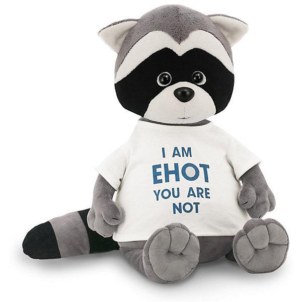 Мягкая игрушка Orange Енотик Дэнни: I am Енот, 20 смМягкие игрушки животные<br>Характеристики товара:<br><br>• возраст: от 3 лет;<br>• цвет: серый, черный, голубой;<br>• высота игрушки: 20 см.;<br>• состав: искусственный мех, полиэтиленовые гранулы, текстиль, пластик;<br>• упаковка: картонная коробка открытого типа.;<br>• вес в упаковке: 130 гр.;<br>• бренд, страна: Orange, Россия;<br>• страна-производитель: Китай.<br><br>Мягкая игрушка «Енотик Дэнни: I am Енот» из коллеции LIFE торговой марки Orange может привести в восторг многих детей. Плюшевая игрушка станет отличным подспорьем для ребенка в развитии воображения, благодаря которому малыш сможет создавать интересные сюжеты и поделки. <br><br>Игрушка представляет собой улыбающегося доброго енотика по имени Дэнни, данная модель отличается необычной модной надписью на футболке. У Дэнни приятный дружелюбный взгляд и положительное выражение мордочки.<br><br>Внутри игрушки находятся маленькие полиэтиленовые гранулы, которые не теряют форму и не позволяют игрушке портиться. Аккуратно простроченные швы надежно удерживают внутреннюю набивку. Материалы, использованные для изготовления игрушки, прошли контроль качества и безопасны для маленьких детей. <br><br>Коллекция LIFE включает в себя несколько симпатичных персонажей - совершенно разных, но объединённых общей историей их Жизни. Каждый герой имеет свое имя, характер и представлен в нескольких размерах, с разными одеждами и аксессуарами. Все игрушки продаются в стильных коробочках-трансформерах из экологического крафт-картона.<br><br>Мягкую игрушку «Енотик Дэнни: I am Енот», сидячий, 20 см., Orange можно купить в нашем интернет-магазине.<br>Ширина мм: 120; Глубина мм: 110; Высота мм: 250; Вес г: 130; Возраст от месяцев: 36; Возраст до месяцев: 180; Пол: Унисекс; Возраст: Детский; SKU: 7462233;