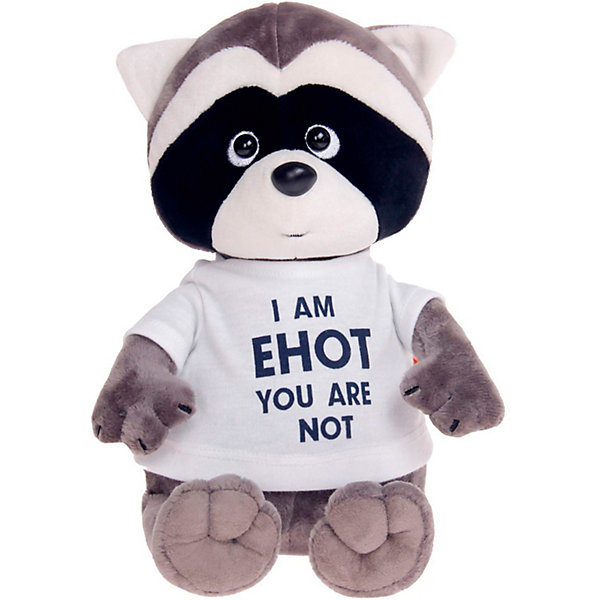 Мягкая игрушка Orange Енотик Дэнни: I am Енот, 25 смМягкие игрушки животные<br>Характеристики товара:<br><br>• возраст: от 3 лет;<br>• цвет: серый, черный, голубой;<br>• высота игрушки: 25 см.;<br>• состав: искусственный мех, полиэтиленовые гранулы, текстиль, пластик;<br>• упаковка: картонная коробка открытого типа.;<br>• вес в упаковке: 320 гр.;<br>• бренд, страна: Orange, Россия;<br>• страна-производитель: Китай.<br><br>Мягкая игрушка «Енотик Дэнни: I am Енот» из коллеции LIFE торговой марки Orange может привести в восторг многих детей. Плюшевая игрушка станет отличным подспорьем для ребенка в развитии воображения, благодаря которому малыш сможет создавать интересные сюжеты и поделки. <br><br>Игрушка представляет собой улыбающегося доброго енотика по имени Дэнни, данная модель отличается необычной модной надписью на футболке. У Дэнни приятный дружелюбный взгляд и положительное выражение мордочки.<br><br>Внутри игрушки находятся маленькие полиэтиленовые гранулы, которые не теряют форму и не позволяют игрушке портиться. Аккуратно простроченные швы надежно удерживают внутреннюю набивку. Материалы, использованные для изготовления игрушки, прошли контроль качества и безопасны для маленьких детей. <br><br>Коллекция LIFE включает в себя несколько симпатичных персонажей - совершенно разных, но объединённых общей историей их Жизни. Каждый герой имеет свое имя, характер и представлен в нескольких размерах, с разными одеждами и аксессуарами. Все игрушки продаются в стильных коробочках-трансформерах из экологического крафт-картона.<br><br>Мягкую игрушку «Енотик Дэнни: I am Енот», сидячий, 25 см., Orange можно купить в нашем интернет-магазине.<br>Ширина мм: 150; Глубина мм: 140; Высота мм: 300; Вес г: 320; Возраст от месяцев: 36; Возраст до месяцев: 180; Пол: Унисекс; Возраст: Детский; SKU: 7462234;