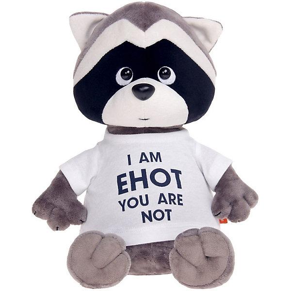 Мягкая игрушка Orange Енотик Дэнни: I am Енот, 30 смМягкие игрушки животные<br>Характеристики товара:<br><br>• возраст: от 3 лет;<br>• цвет: серый, черный, голубой;<br>• высота игрушки: 30 см.;<br>• состав: искусственный мех, полиэтиленовые гранулы, текстиль, пластик;<br>• упаковка: картонная коробка открытого типа.;<br>• вес в упаковке: 380 гр.;<br>• бренд, страна: Orange, Россия;<br>• страна-производитель: Китай.<br><br>Мягкая игрушка «Енотик Дэнни: I am Енот» из коллеции LIFE торговой марки Orange может привести в восторг многих детей. Плюшевая игрушка станет отличным подспорьем для ребенка в развитии воображения, благодаря которому малыш сможет создавать интересные сюжеты и поделки. <br><br>Игрушка представляет собой улыбающегося доброго енотика по имени Дэнни, данная модель отличается необычной модной надписью на футболке. У Дэнни приятный дружелюбный взгляд и положительное выражение мордочки.<br><br>Внутри игрушки находятся маленькие полиэтиленовые гранулы, которые не теряют форму и не позволяют игрушке портиться. Аккуратно простроченные швы надежно удерживают внутреннюю набивку. Материалы, использованные для изготовления игрушки, прошли контроль качества и безопасны для маленьких детей. <br><br>Коллекция LIFE включает в себя несколько симпатичных персонажей - совершенно разных, но объединённых общей историей их Жизни. Каждый герой имеет свое имя, характер и представлен в нескольких размерах, с разными одеждами и аксессуарами. Все игрушки продаются в стильных коробочках-трансформерах из экологического крафт-картона.<br><br>Мягкую игрушку «Енотик Дэнни: I am Енот», сидячий, 30 см., Orange можно купить в нашем интернет-магазине.<br>Ширина мм: 200; Глубина мм: 150; Высота мм: 470; Вес г: 380; Возраст от месяцев: 36; Возраст до месяцев: 180; Пол: Унисекс; Возраст: Детский; SKU: 7462235;