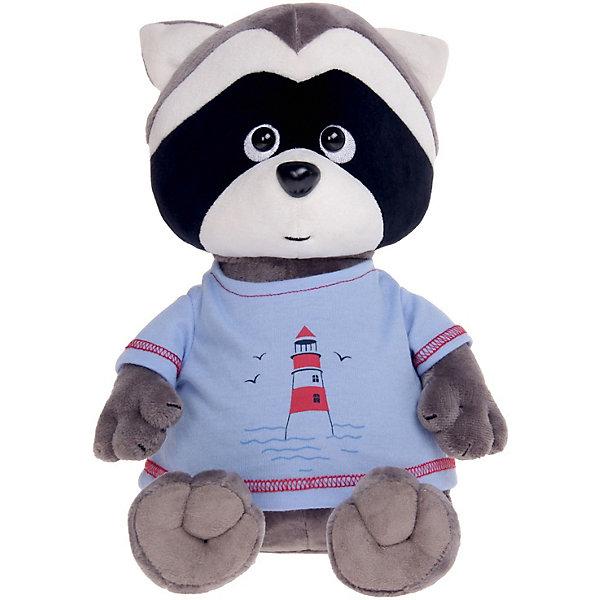 Мягкая игрушка Orange Енотик Дэнни: Маяк, 25 смМягкие игрушки животные<br>Характеристики товара:<br><br>• возраст: от 3 лет;<br>• цвет: серый, черный, голубой;<br>• высота игрушки: 25 см.;<br>• состав: искусственный мех, полиэтиленовые гранулы, текстиль, пластик;<br>• упаковка: картонная коробка открытого типа.;<br>• вес в упаковке: 320 гр.;<br>• бренд, страна: Orange, Россия;<br>• страна-производитель: Китай.<br><br>Мягкая игрушка «Енотик Дэнни: Маяк» из коллеции LIFE торговой марки Orange может привести в восторг многих детей. Плюшевая игрушка станет отличным подспорьем для ребенка в развитии воображения, благодаря которому малыш сможет создавать интересные сюжеты и поделки. <br><br>Игрушка представляет собой улыбающегося доброго енотика по имени Дэнни, у него есть новый костюм - модная футболочка в морском стиле с изображением маяка. Симпатичный, чрезвычайно любопытный зверек с шикарным хвостом порадует детишек своим необычным образом.<br><br>Внутри игрушки находятся маленькие полиэтиленовые гранулы, которые не теряют форму и не позволяют игрушке портиться. Аккуратно простроченные швы надежно удерживают внутреннюю набивку. Материалы, использованные для изготовления игрушки, прошли контроль качества и безопасны для маленьких детей. <br><br>Коллекция LIFE включает в себя несколько симпатичных персонажей - совершенно разных, но объединённых общей историей их Жизни. Каждый герой имеет свое имя, характер и представлен в нескольких размерах, с разными одеждами и аксессуарами. Все игрушки продаются в стильных коробочках-трансформерах из экологического крафт-картона.<br><br>Мягкую игрушку «Енотик Дэнни: Маяк», сидячий, 25 см., Orange можно купить в нашем интернет-магазине.<br>Ширина мм: 150; Глубина мм: 140; Высота мм: 300; Вес г: 320; Возраст от месяцев: 36; Возраст до месяцев: 180; Пол: Унисекс; Возраст: Детский; SKU: 7462238;