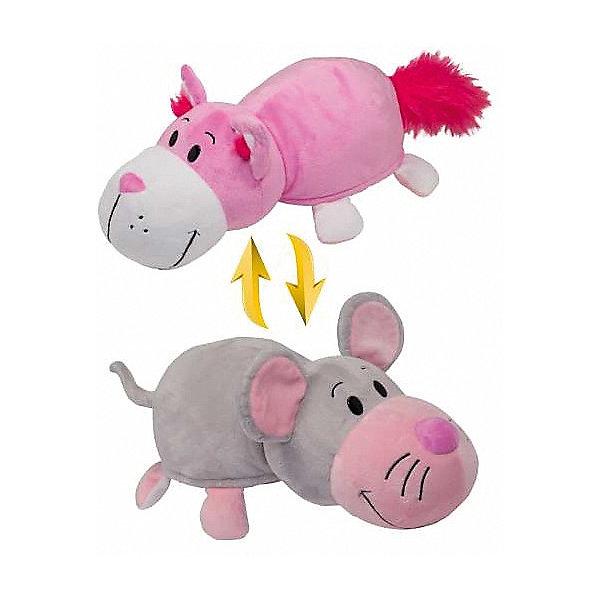 Мягкая игрушка-вывернушка 2 в 1 1Toy Розовый кот-Мышь, 28 смМягкие игрушки животные<br>Характеристики:<br><br>• вес: 436г.;<br>• материал: текстиль, плюш;<br>• упаковка: пакет;<br>• размер игрушки:35см.;<br>• для детей в возрасте: от 3 лет;<br>• страна производитель: Китай.<br><br>Игрушка-вывернушка 2в1 «Розовый Кот-Мышь» бренда «1Toy» (1Той) станет желанным двойным подарком для маленьких девчонок и мальчишек. Она создана из качественных, не аллергенных материалов, что очень важно для детских товаров.<br><br>Милая двойная игрушка с шикарной шубкой привлечёт внимание любого ребёнка. Игрушка имеет оптимальный размер, её рост составляет тридцать пять сантиметров. У неё мягкое тельце, яркие носик и лапки, большие глазки. Игрушку можно брать с собой в путешествия и на прогулки, чтобы удивлять подружек и играть вместе сними. Игрушка надолго останется любимицей малыша, она не линяет и не деформируется даже при машинной стирке.<br>Играя, с мягкими игрушками дети получают позитивные тактильные ощущения, хорошо успокаиваются и засыпают.<br><br>Игрушку-вывернушку 2в1 «Розовый Кот-Мышь» можно купить в нашем интернет-магазине.<br>Ширина мм: 560; Глубина мм: 360; Высота мм: 265; Вес г: 416; Возраст от месяцев: 36; Возраст до месяцев: 2147483647; Пол: Унисекс; Возраст: Детский; SKU: 7463952;