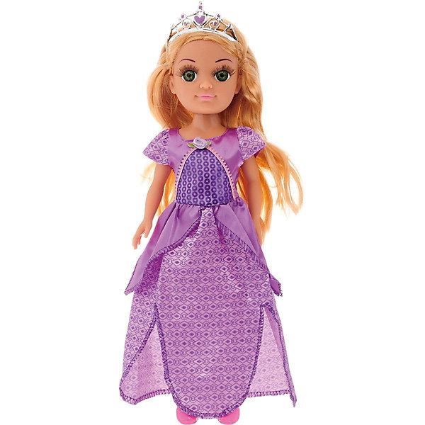 Купить Кукла Карапуз Принцесса в фиолетовом, 38 см (звук), КАРАПУЗ, Китай, Женский