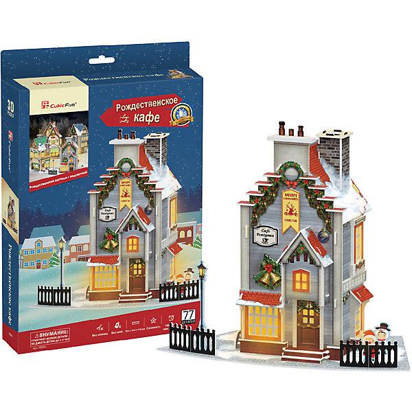 3D пазл CubicFun Рождественская кофейня с подсветкой3D пазлы<br>Характеристики товара:<br><br>• возраст: от 8 лет;<br>• в комплекте: 77 элементов;<br>• материал: картон и пена EPS;<br>• батарейки: 3 шт. типа ААА/LR03 (в комплект не входят);<br>• размер упаковки: 22 х5х33 см;<br>• вес упаковки: 377 гг.;<br>• страна производитель: Китай.<br><br>3D пазл CubicFun Рождественская кофейня с подсветкой создаст настоящее новогодние настроение. Маленький любитель приключений сможет собственными руками соорудить уютную кофейню, где сам Дедушка Мороз уже упаковывает подарки для детишек.<br><br>Пазл помогает в развитии логики и творческого мышления, внимания, воображения и мелкой моторики.<br><br>3D пазл CubicFun Рождественская кофейня с подсветкой можно купить в нашем интернет-магазине.<br>Ширина мм: 220; Глубина мм: 40; Высота мм: 330; Вес г: 379; Цвет: schwarz Modell 2; Возраст от месяцев: 96; Возраст до месяцев: 2147483647; Пол: Унисекс; Возраст: Детский; SKU: 7474851;