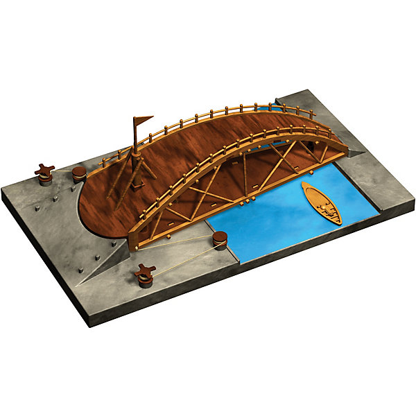 Конструктор Edu-Toys Вращающийся мостМодели из бумаги<br>Характеристики товара:<br><br>• возраст: от 6 лет;<br>• материал: пластик;<br>• размер упаковки: 22х0,7х22 см;<br>• вес упаковки: 380 гр.;<br>• страна производитель: Гонконг.<br><br>Конструктор Edu-Toys Вращающийся мост копия изобретения великого инженера средневековья, Леонардо Да Винчи. <br><br>Вращающийся мост состоит из одного пролета и крепился на вертикальном шарнире, который позволял легко вращать всю конструкцию.<br><br>Конструктор входит в серию изобретение Леонардо Да Винчи.<br><br>Конструктор Edu-Toys Вращающийся мост можно купить в нашем интернет-магазине.<br>Ширина мм: 270; Глубина мм: 80; Высота мм: 220; Вес г: 450; Возраст от месяцев: 96; Возраст до месяцев: 2147483647; Пол: Унисекс; Возраст: Детский; SKU: 7476110;