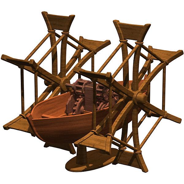 Конструктор Edu-Toys Колесная лодкаМодели из бумаги<br>Характеристики товара:<br><br>• возраст: от 6 лет;<br>• материал: пластик;<br>• размер упаковки: 22х0,7х22 см;<br>• вес упаковки: 380 гр.;<br>• страна производитель: Гонконг.<br><br>Конструктор Edu-Toys Колесная лодка копия изобретения великого инженера средневековья, Леонардо Да Винчи. <br><br>Леонардо да Винчи своим изобретением Колесная лодка пытался ускорить и облегчить перемещения по воде. Его идея основана на форме и движении рыб. Изобретатель спроектировал свою лодку клиновидной формы. Кроме того, он оборудовал плавательное средство большими веслами в виде колес, которые приводились в движение при помощи ног. Такой механизм давал значительный прирост скорости и повышал эффективность традиционной гребли веслами.<br><br>Конструктор входит в серию изобретение Леонардо Да Винчи.<br><br>Конструктор Edu-Toys Колесная лодка можно купить в нашем интернет-магазине.<br>Ширина мм: 270; Глубина мм: 80; Высота мм: 220; Вес г: 450; Возраст от месяцев: 96; Возраст до месяцев: 2147483647; Пол: Унисекс; Возраст: Детский; SKU: 7476114;