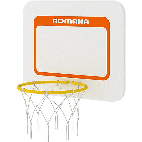 Щит баскетбольный RomanaШведские стенки<br>Характеристики товара:<br><br>• возраст: от 3 лет;<br>• габариты щита: 46х37,5 см;<br>• диаметр кольца: 26 см;<br>• размер упаковки: 46х38х5 см;<br>• вес упаковки: 3 кг;<br>• страна производитель: Россия.<br><br>Щит баскетбольный Romana — щит для игр в баскетбол, который крепится на спортивные комплексы Romana. <br><br>Щит баскетбольный Romana можно приобрести в нашем интернет-магазине.<br>Ширина мм: 490; Глубина мм: 400; Высота мм: 45; Вес г: 3000; Возраст от месяцев: 36; Возраст до месяцев: 2147483647; Пол: Унисекс; Возраст: Детский; SKU: 7479594;
