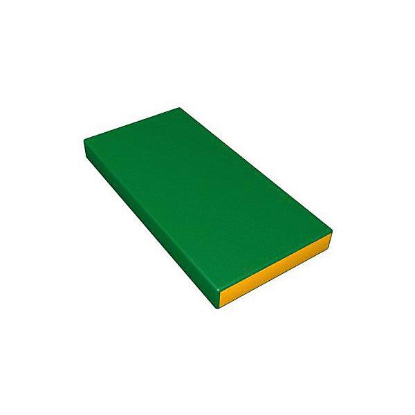 Гимнастический мат Romana Kid мягкий, желто-зеленыйСпортивные коврики<br>Характеристики товара:<br><br>• возраст: от 3 лет;<br>• размер щита: 100х50х6 см;<br>• размер упаковки: 101х51х7 см;<br>• вес упаковки: 1,2 кг;<br>• страна производитель: Россия.<br><br>Мягкий щит Romana светло-зеленый/желтый — мягкий коврик как для самостоятельного использования и упражнений, так и вместе со спортивными комплексами Romana. Мягкий щит смягчает удар в случае падения ребенка.<br><br>Мягкий щит Romana светло-зеленый/желтый можно приобрести в нашем интернет-магазине.<br>Ширина мм: 1000; Глубина мм: 500; Высота мм: 60; Вес г: 1200; Возраст от месяцев: 36; Возраст до месяцев: 2147483647; Пол: Унисекс; Возраст: Детский; SKU: 7479608;