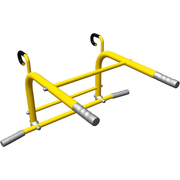 Турник-брусья 2 в 1 Romana, желтыйШведские стенки<br>Характеристики товара:<br><br>• возраст: от 3 лет;<br>• максимальная нагрузка: 100 кг;<br>• материал: металл;<br>• размеры: 81х58,5х40,5 см;<br>• размер упаковки: 70х52х5 см;<br>• вес упаковки: 6 кг;<br>• страна производитель: Россия.<br><br>Турник-брусья 2 в 1 Romana желтый предназначен для установки на шведские стенки Romana. Турник рассчитан на тренировку разных групп мышц: укрепление спины и рук, ног, качание пресса. Установка турника возможна только на комплексы шириной 49 см.<br><br>Турник-брусья 2 в 1 Romana желтый можно приобрести в нашем интернет-магазине.<br>Ширина мм: 700; Глубина мм: 520; Высота мм: 50; Вес г: 6000; Возраст от месяцев: 36; Возраст до месяцев: 2147483647; Пол: Унисекс; Возраст: Детский; SKU: 7479636;