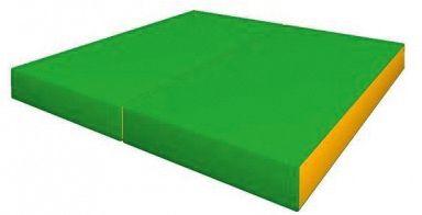 Гимнастический мат Romana  Kid  складной, желто-зеленый, артикул:7479638 - Спортивные коврики