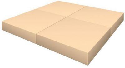 Гимнастический мат Romana  Pro  складной в 4 раза, желто-оранжевый, артикул:7479650 - Спортивные коврики