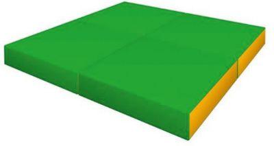 Романа Мягкий щит Pro 1х1х0,1 м складной в 4 раза светло-зеленый-желтый, артикул:7479674 - Спортивные коврики