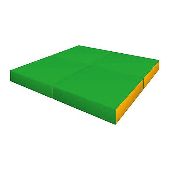 Романа Мягкий щит Pro 1х1х0,1 м складной в 4 раза светло-зеленый-желтыйСпортивные коврики<br>Характеристики товара:<br><br>• возраст: от 3 лет;<br>• размер щита: 100х100х10 см;<br>• размер упаковки: 50х50х40 см;<br>• вес упаковки: 3,5 кг;<br>• страна производитель: Россия.<br><br>Мягкий щит Romana складной в 4 раза светло-зеленый/желтый — мягкий коврик как для самостоятельного использования и упражнений, так и вместе со спортивными комплексами Romana. Мягкий щит смягчает удар в случае падения ребенка. Щит можно сложить в 4 раза и использовать как пуфик или же компактно хранить дома.<br><br>Мягкий щит Romana складной в 4 раза светло-зеленый/желтый можно приобрести в нашем интернет-магазине.<br>Ширина мм: 500; Глубина мм: 500; Высота мм: 400; Вес г: 3500; Возраст от месяцев: 36; Возраст до месяцев: 2147483647; Пол: Унисекс; Возраст: Детский; SKU: 7479674;