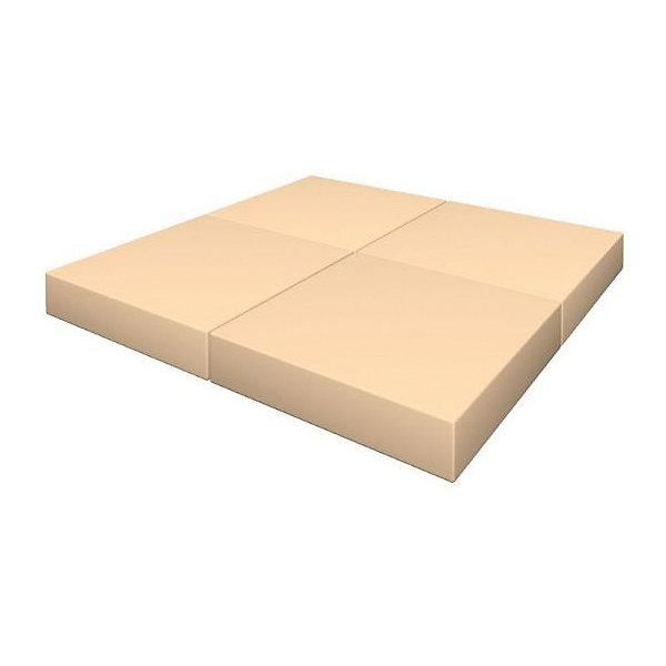 Гимнастический мат Romana Pro складной в 4 раза, бежевыйСпортивные коврики<br>Характеристики товара:<br><br>• возраст: от 3 лет;<br>• размер щита: 100х100х10 см;<br>• размер упаковки: 50х50х40 см;<br>• вес упаковки: 3,5 кг;<br>• страна производитель: Россия.<br><br>Мягкий щит Romana складной в 4 раза бежевый — мягкий коврик как для самостоятельного использования и упражнений, так и вместе со спортивными комплексами Romana. Мягкий щит смягчает удар в случае падения ребенка. Щит можно сложить в 4 раза и использовать как пуфик или же компактно хранить дома.<br><br>Мягкий щит Romana складной в 4 раза бежевый можно приобрести в нашем интернет-магазине.<br>Ширина мм: 500; Глубина мм: 500; Высота мм: 400; Вес г: 3500; Возраст от месяцев: 36; Возраст до месяцев: 2147483647; Пол: Унисекс; Возраст: Детский; SKU: 7479678;
