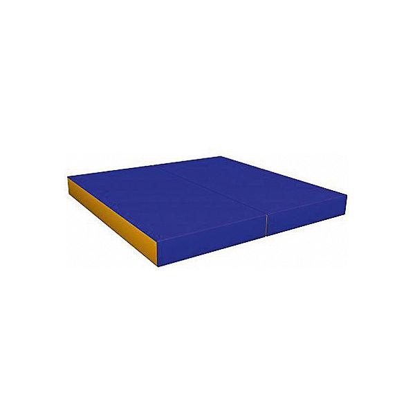 Гимнастический мат Romana Kid складной, желто-голубойСпортивные коврики<br>Характеристики товара:<br><br>• возраст: от 3 лет;<br>• размер щита: 100х100х6 см;<br>• размер упаковки: 101х102х7 см;<br>• вес упаковки: 2,4 кг;<br>• страна производитель: Россия.<br><br>Мягкий щит Romana складной в 2 раза голубой/желтый — мягкий коврик как для самостоятельного использования и упражнений, так и вместе со спортивными комплексами Romana. Мягкий щит смягчает удар в случае падения ребенка.<br><br>Мягкий щит Romana складной в 2 раза голубой/желтый можно приобрести в нашем интернет-магазине.<br>Ширина мм: 1000; Глубина мм: 500; Высота мм: 120; Вес г: 2400; Возраст от месяцев: 36; Возраст до месяцев: 2147483647; Пол: Унисекс; Возраст: Детский; SKU: 7479698;