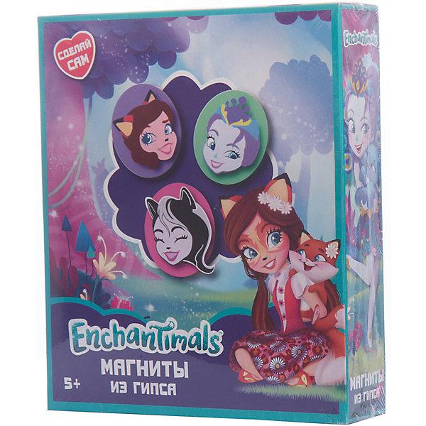 Набор для творчества Centrum Enchantimals Магниты из гипсаНаборы из гипса<br>Характеристики:<br><br>• набор для творчества;<br>• изготовление магнитов;<br>• герои Enchantimals;<br>• возможность раскрасить готовое гипсовое изделие;<br>• размер упаковки: 22х18,5х5 см;<br>• вес: 520 г.<br><br>Набор для детского творчества предлагает девочкам изготовить магниты с отливками персонажей Энчантималс. Когда слепок высохнет, его можно извлечь из формы, раскрасить акриловыми красками и оформить как магнитик. Для этого магнитная лента разрезается и наклеивается на обратную сторону слепка. <br><br>Комплектация:<br><br>• сухой гипсовый порошок, <br>• пластиковая форма для отливки магнитов, <br>• магнитная лента, <br>• акриловые краски (6 цветов), <br>• кисть, <br>• подробная инструкция.<br><br><br>Набор Сделай магниты из гипса Enchantimals можно купить в нашем интернет-магазине.<br>Ширина мм: 50; Глубина мм: 185; Высота мм: 220; Вес г: 520; Цвет: разноцветный; Возраст от месяцев: 36; Возраст до месяцев: 84; Пол: Женский; Возраст: Детский; SKU: 7481562;
