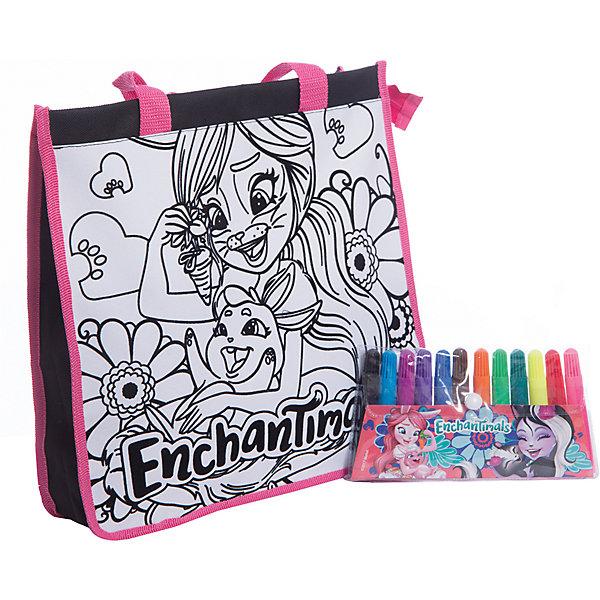 Набор для творчества Centrum Enchantimals Раскрась сумку, Бри БанниНаборы для раскрашивания<br>Характеристики:<br><br>• набор для творчества;<br>• сумка для раскрашивания;<br>• яркие и насыщенные цвета фломастеров;<br>• на сумку нанесен контур рисунка;<br>• для контура используется флок – эффект бархата;<br>• размер сумки: 24х34 см.<br><br>Маленькая модница своими руками изготовит стильный аксессуар. Сумочка для раскрашивания с нанесенным контурным рисунком и белыми зонами, которые заполняются цветом для создания объемной аппликации. После раскрашивания желательно оставить сумочку до полного высыхания.  <br><br>Комплектация набора: <br><br>• сумка А4;<br>• фломастеры 12 цветов;<br>• блистерная упаковка с подвесом.<br><br>Набор раскрась сумку Enchantimals можно купить в нашем интернет-магазине.<br>Ширина мм: 90; Глубина мм: 215; Высота мм: 285; Вес г: 400; Цвет: разноцветный; Возраст от месяцев: 36; Возраст до месяцев: 84; Пол: Женский; Возраст: Детский; SKU: 7481568;