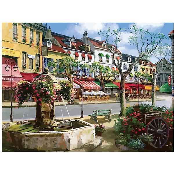Купить Раскраска по номерам Белоснежка Европейский городок , 40х50 см, Китай, Унисекс