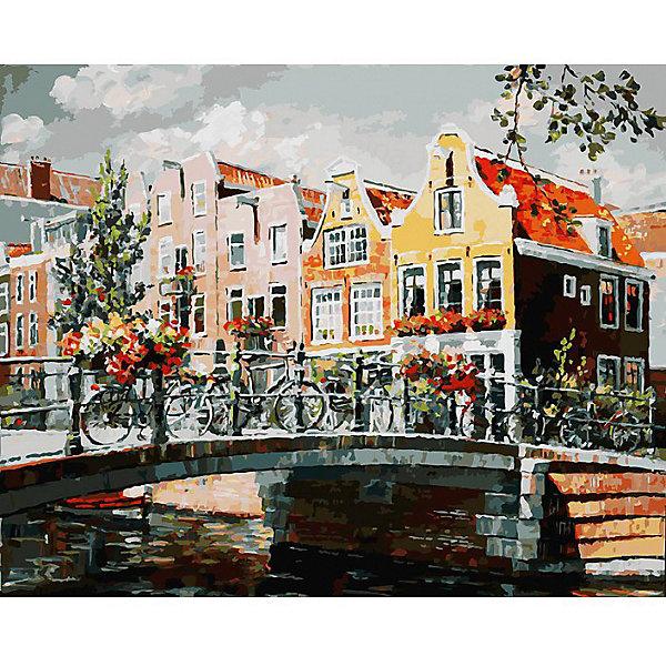 Раскраска по номерам Белоснежка Амстердам. Мост через канал, 40х50 смКартины по номерам<br>Характеристики:<br><br>• тип набора для творчества: картина по номерам;<br>• возраст: от 6 лет;<br>• размер: 40х50 см;<br>• количество красок: 35 цветов;<br>• тип красок: акриловые;<br>• комплектация: полотно с эскизом рисунка, сверочный лист, краски, кисточки, комплект креплений;<br>• автор сюжета: Artemis;<br>• вес: 1 кг;<br>• бренд: Белоснежка.<br><br> Набор «Амстердам. Мост через канал» представляет собой комплект для живописи на цветном холсте. Он подойдет для детей от 6 лет и старше и станет увлекательным времяпрепровождением для любого ребенка.  Кроме того, это оригинальный подарок как начинающим художникам-любителям, так и профессионалам. Шаг за шагом, закрашивая красками пронумерованные фрагменты изображения, можно получить в итоге такую симпатичную картину. В качестве украшения интерьера она придется очень кстати.<br> <br>Большие участки картины залиты светлой краской с близким оттенком по цвету. Благодаря этому, легче ориентироваться в сюжете картины, ведь всегда понятно, какая часть картины сейчас в работе. Цветные участки хорошо закрашиваются акриловыми красками.<br><br>Техника раскрашивания по номерам дает возможность легко рисовать даже сложные сюжеты. Прекрасно развивает художественный вкус, аккуратность и усидчивость. Набор предназначен  для детей  и взрослых.<br><br> Набор «Амстердам. Мост через канал»  можно купить в нашем интернет-магазине.<br>Ширина мм: 40; Глубина мм: 50; Высота мм: 50; Вес г: 850; Возраст от месяцев: 72; Возраст до месяцев: 2147483647; Пол: Унисекс; Возраст: Детский; SKU: 7482321;