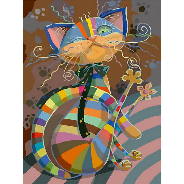 Раскраска по номерам Белоснежка Полосатый разбойник, 40х50 смНаборы для росписи<br>Характеристики:<br><br>• тип набора для творчества: картина по номерам;<br>• возраст: от 6 лет;<br>• размер: 40х50 см;<br>• количество красок: 20 цветов;<br>• тип красок: акриловые;<br>• комплектация: полотно с эскизом рисунка, сверочный лист, краски, кисточки, комплект креплений;<br>• автор сюжета: Любовь Ерёмина;<br>• вес: 1 кг;<br>• бренд: Белоснежка.<br><br> Набор «Полосатый разбойник» представляет собой комплект для живописи на цветном холсте. Он подойдет для детей от 6 лет и старше и станет увлекательным времяпрепровождением для любого ребенка.  Кроме того, это оригинальный подарок как начинающим художникам-любителям, так и профессионалам. Шаг за шагом, закрашивая красками пронумерованные фрагменты изображения, можно получить в итоге такую симпатичную картину. В качестве украшения интерьера она придется очень кстати.<br> <br>Большие участки картины залиты светлой краской с близким оттенком по цвету. Благодаря этому, легче ориентироваться в сюжете картины, ведь всегда понятно, какая часть картины сейчас в работе. Цветные участки хорошо закрашиваются акриловыми красками.<br><br>Техника раскрашивания по номерам дает возможность легко рисовать даже сложные сюжеты. Прекрасно развивает художественный вкус, аккуратность и усидчивость. Набор предназначен  для детей  и взрослых.<br><br> Набор «Полосатый разбойник»  можно купить в нашем интернет-магазине.<br>Ширина мм: 40; Глубина мм: 50; Высота мм: 50; Вес г: 1000; Возраст от месяцев: 72; Возраст до месяцев: 2147483647; Пол: Унисекс; Возраст: Детский; SKU: 7482337;