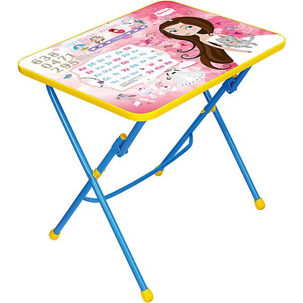 Детский складной стол Nika Kids ПринцессаДетские столы и стулья<br>Характеристики:<br><br>• возраст: от 3 лет;<br>• материал: металл, пластик;<br>• размер столешницы: 60х45 см;<br>• пенал: нет;<br>• подставка для ног;<br>• высота: 58 см;<br>• вес упаковки: 7,45 кг.;<br>• размер упаковки: 76х62х10 см;<br>• страна производитель: Россия.<br><br>Складной стол Nika станет первым собственным рабочим столом малыша. Удобная конструкция делает столик универсальным и для совсем юных, и для подросших детей.<br><br>Поверхность столешницы имеет глянцевое цветное покрытие с обучающими рисунками, включая цифры и алфавит. Скругленные углы столешницы обеспечивают безопасное использование.<br><br>Стол разработан с учетом правильного развития детской осанки из качественных материалов. Отлично подойдет для обучения и игр.<br><br>Стол детский складной с рис. «Принцесса» СУ1 можно купить в нашем интернет-магазине.<br>Ширина мм: 760; Глубина мм: 620; Высота мм: 100; Вес г: 7450; Цвет: розовый; Возраст от месяцев: 36; Возраст до месяцев: 84; Пол: Женский; Возраст: Детский; SKU: 7483505;