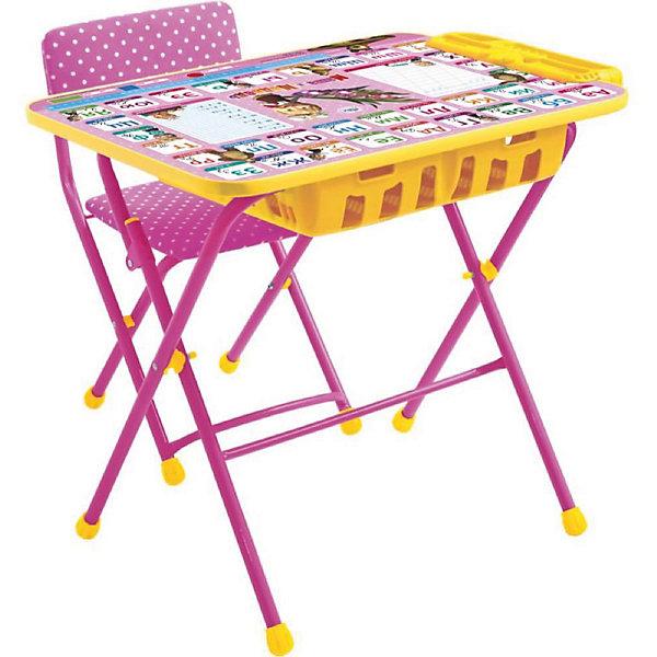 Комплект мебели Nika Kids Маша и Медведь Азбука 3 (большой пенал, мягкое сиденье)Детские столы и стулья<br>Характеристики:<br><br>• возраст: от 3 лет;<br>• материал: металл, пластик;<br>• размер: столешницы - 60х45 см, сиденья - 31х27 см;<br>• встроенный пенал;<br>• подставка для ног;<br>• мягкий стул;<br>• высота: стол - 58 см, спинка стула - 57 см, до сиденья - 32 см;<br>• вес упаковки: 8,15 кг.;<br>• размер упаковки: 75х61,5х16 см;<br>• страна производитель: Россия.<br><br>Комплект из стола и стула от Nika станет первым собственным рабочим местом малыша. Удобная конструкция делает столик универсальным и для совсем юных, и для подросших детей.<br><br>Поверхность столешницы имеет ламинированное покрытие с обучающими рисунками. Подходит для рисования маркерами на водной основе. Скругленные углы столешницы обеспечивают безопасное использование.<br><br>Сиденье и спинка стула мягкие, что делает занятия комфортнее. Комплект разработан из качественных материалов с учетом правильного развития детской осанки. Отлично подойдет для обучения и игр.<br><br>Комплект «Азбука 3: Маша и Медведь» КУ2П/3 можно купить в нашем интернет-магазине.<br>Ширина мм: 750; Глубина мм: 615; Высота мм: 160; Вес г: 8150; Цвет: розовый; Возраст от месяцев: 36; Возраст до месяцев: 84; Пол: Женский; Возраст: Детский; SKU: 7483513;