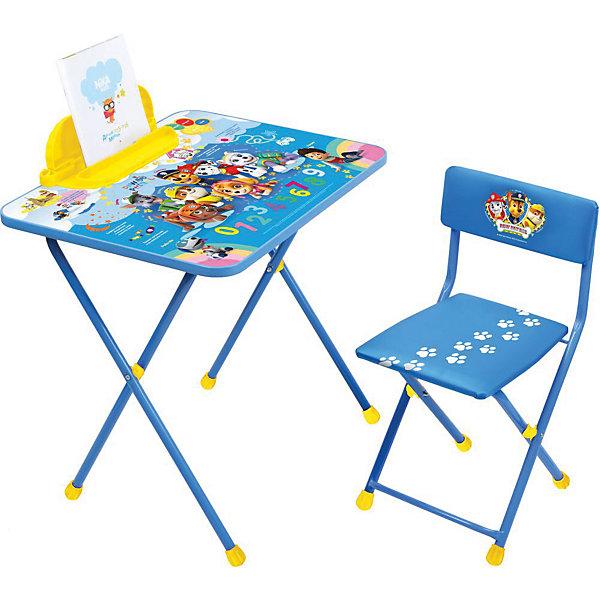 Комплект мебели Nika Kids Щенячий патруль 1Детские столы и стулья<br>Характеристики:<br><br>• возраст: от 1,5 лет;<br>• материал: металл, пластик;<br>• размер: столешницы - 60х45 см, сиденья - 31х27 см;<br>• встроенный пенал;<br>• без подставки для ног;<br>• мягкий стул;<br>• высота: стол - 52 см, спинка стула - 53 см, до сиденья - 28 см;<br>• вес упаковки: 7,35 кг.;<br>• размер упаковки: 74х15х60 см;<br>• страна производитель: Россия.<br><br>Комплект из стола и стула от Nika станет первым собственным рабочим местом малыша. Складная конструкция делает мебель компактной, набор легко хранить и перевозить.<br><br>На поверхности столешницы имеют красочные обучающие рисунки. Удобный пенал поможет разместить письменные принадлежности. Скругленные углы столешницы обеспечивают безопасное использование.<br><br>Сиденье и спинка стула мягкие, что делает занятия еще комфортнее. Комплект разработан из качественных материалов с учетом правильного развития детской осанки. Отлично подойдет для обучения и игр.<br><br>Комплект «Щенячий патруль» Щ1 можно купить в нашем интернет-магазине.<br>Ширина мм: 600; Глубина мм: 450; Высота мм: 520; Вес г: 7350; Цвет: синий; Возраст от месяцев: 36; Возраст до месяцев: 84; Пол: Унисекс; Возраст: Детский; SKU: 7483521;