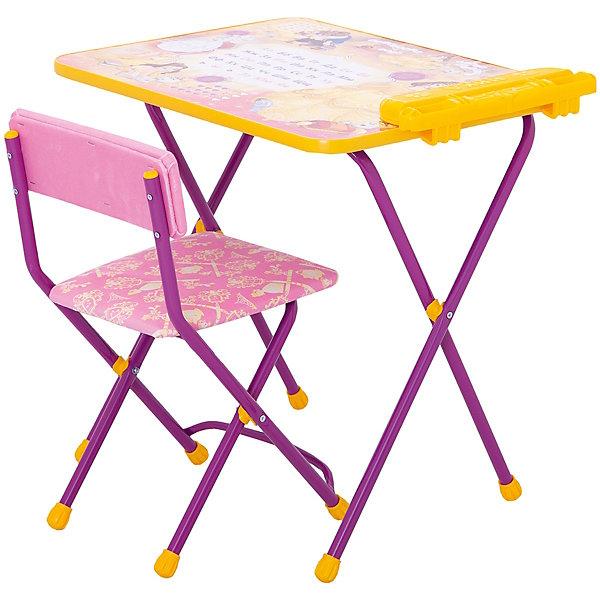 Комплект мебели Nika Kids Disney 4 БелльДетские столы и стулья<br>Характеристики:<br><br>• возраст: от 3 лет;<br>• материал: металл, пластик;<br>• размер: столешницы - 60х45 см, сиденья - 31х27 см;<br>• встроенный пенал;<br>• без подставки для ног;<br>• мягкий стул;<br>• высота: стол - 58 см, спинка стула - 57 см, до сиденья - 32 см;<br>• вес упаковки: 7,7 кг.;<br>• размер упаковки: 75х61,5х16 см;<br>• страна производитель: Россия.<br><br>Комплект из стола и стула от Nika станет первым собственным рабочим местом малыша. Удобная конструкция делает столик универсальным и для совсем юных, и для подросших детей.<br><br>Поверхность столешницы имеет глянцевое цветное покрытие с обучающими рисунками. Подходит для рисования маркерами на водной основе. Скругленные углы столешницы обеспечивают безопасное использование.<br><br>Сиденье и спинка стула мягкие, что делает занятия комфортнее. Комплект разработан из качественных материалов с учетом правильного развития детской осанки. Отлично подойдет для обучения и игр.<br><br>Комплект «Disney 4 - Белль» Д4Б можно купить в нашем интернет-магазине.<br>Ширина мм: 750; Глубина мм: 615; Высота мм: 160; Вес г: 7700; Цвет: розовый; Возраст от месяцев: 36; Возраст до месяцев: 84; Пол: Женский; Возраст: Детский; SKU: 7483523;