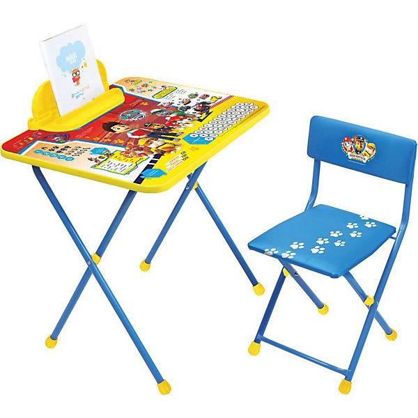 Комплект мебели Nika Kids Щенячий патруль 2Детские столы и стулья<br>Характеристики:<br><br>• возраст: от 3 лет;<br>• материал: металл, пластик;<br>• размер: столешницы - 60х45 см, сиденья - 31х27 см;<br>• встроенный пенал;<br>• без подставки для ног;<br>• мягкий стул;<br>• высота: стол - 58 см, спинка стула - 57 см, до сиденья - 32 см;<br>• вес упаковки: 7,35 кг.;<br>• размер упаковки: 74х15х60 см;<br>• страна производитель: Россия.<br><br>Комплект из стола и стула от Nika станет первым собственным рабочим местом малыша. Складная конструкция делает мебель компактной, набор легко хранить и перевозить.<br><br>На поверхности столешницы имеют красочные обучающие рисунки. Удобный пенал поможет разместить письменные принадлежности. Скругленные углы столешницы обеспечивают безопасное использование.<br><br>Сиденье и спинка стула мягкие, что делает занятия еще комфортнее. Комплект разработан из качественных материалов с учетом правильного развития детской осанки. Отлично подойдет для обучения и игр.<br><br>Комплект «Щенячий патруль» Щ2 можно купить в нашем интернет-магазине.<br>Ширина мм: 600; Глубина мм: 450; Высота мм: 520; Вес г: 7350; Цвет: синий; Возраст от месяцев: 36; Возраст до месяцев: 84; Пол: Унисекс; Возраст: Детский; SKU: 7483525;