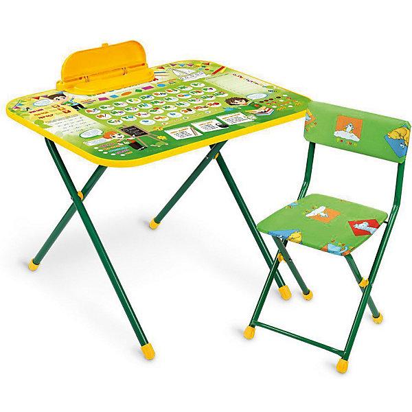 Комплект мебели Nika Kids ПервоклашкаДетские столы и стулья<br>Характеристики:<br><br>• возраст: от 3 лет;<br>• материал: металл, пластик;<br>• размер: столешницы - 60х45 см, сиденья - 31х27 см;<br>• встроенный пенал;<br>• без подставки для ног;<br>• мягкий стул;<br>• высота: стол - 58/62,5 см, спинка стула - 62 см, до сиденья - 37 см;<br>• вес упаковки: 9,4 кг.;<br>• размер упаковки: 83х77,5х16 см;<br>• страна производитель: Россия.<br><br>Комплект из стола и стула от Nika организует собственное рабочее место для малыша. Удобная конструкция с регулируемой высотой делает столик универсальным и для совсем юных, и для подросших детей.<br><br>Поверхность столешницы имеет глянцевое цветное покрытие с обучающими рисунками. Подходит для рисования маркерами на водной основе. Скругленные углы столешницы обеспечивают безопасное использование.<br><br>Сиденье и спинка стула мягкие, что делает занятия комфортнее. Комплект разработан из качественных материалов с учетом правильного развития детской осанки. Отлично подойдет для обучения и игр.<br><br>Комплект Nika kids «Первоклашка» NK-75|2 можно купить в нашем интернет-магазине.<br>Ширина мм: 830; Глубина мм: 775; Высота мм: 160; Вес г: 9400; Цвет: синий; Возраст от месяцев: 36; Возраст до месяцев: 84; Пол: Унисекс; Возраст: Детский; SKU: 7483527;