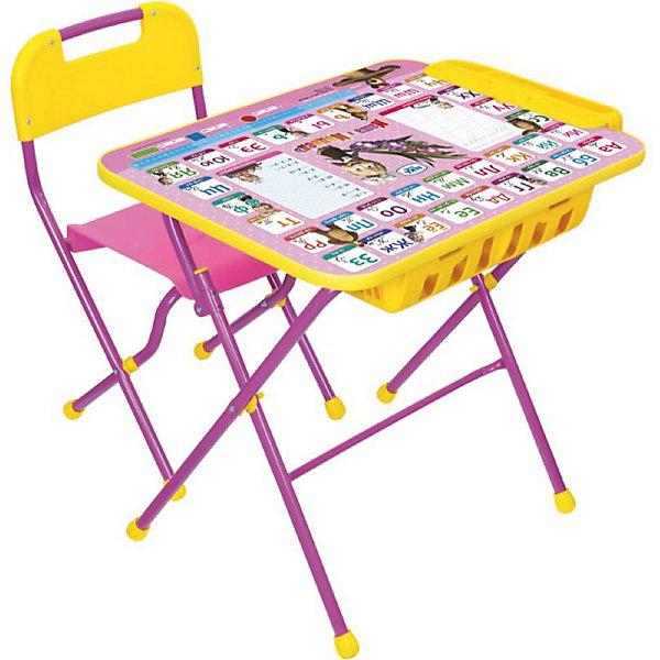 Комплект мебели Nika Kids Маша и Медведь Азбука 3 (большой пенал)Детские столы и стулья<br>Характеристики:<br><br>• возраст: от 3 лет;<br>• материал: металл, пластик;<br>• размер: столешницы - 60х45 см, сиденья - 26х29 см;<br>• встроенный пенал;<br>• подставка для ног;<br>• пластиковый стул;<br>• высота: стол - 58 см, спинка стула - 61 см, до сиденья - 35 см;<br>• вес упаковки: 8,24 кг.;<br>• размер упаковки: 75х61,5х16 см;<br>• страна производитель: Россия.<br><br>Комплект из стола и стула от Nika станет первым собственным рабочим местом малыша. Удобная конструкция делает столик универсальным и для совсем юных, и для подросших детей.<br><br>Поверхность столешницы имеет глянцевое цветное покрытие с обучающими рисунками. Подходит для рисования маркерами на водной основе. Скругленные углы столешницы обеспечивают безопасное использование.<br><br>Сиденье и спинка стула выполнены из прочного пластика, легко моются. Комплект разработан из качественных материалов с учетом правильного развития детской осанки. Отлично подойдет для обучения и игр.<br><br>Комплект «Азбука 3: Маша и Медведь» КПУ2П/3 можно купить в нашем интернет-магазине.<br>Ширина мм: 750; Глубина мм: 615; Высота мм: 160; Вес г: 8240; Цвет: синий; Возраст от месяцев: 36; Возраст до месяцев: 84; Пол: Унисекс; Возраст: Детский; SKU: 7483565;