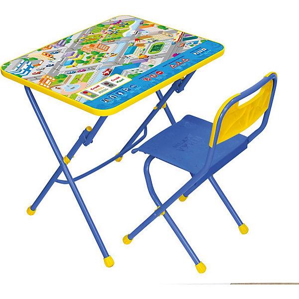 Комплект мебели Nika Kids Правила дорожного движенияДетские столы и стулья<br>Характеристики:<br><br>• возраст: от 3 лет;<br>• материал: металл, пластик;<br>• размер: столешницы - 60х45 см, сиденья - 26х29 см;<br>• пенал: нет;<br>• подставка для ног;<br>• пластиковый стул;<br>• высота: стол - 58 см, спинка стула - 61 см, до сиденья - 35 см;<br>• вес упаковки: 7,35 кг.;<br>• размер упаковки: 75х61,5х16 см;<br>• страна производитель: Россия.<br><br>Комплект из стола и стула от Nika станет первым собственным рабочим местом малыша. Удобная конструкция делает столик универсальным и для совсем юных, и для подросших детей.<br><br>Поверхность столешницы имеет глянцевое цветное покрытие с обучающими рисунками. Подходит для рисования маркерами на водной основе. Скругленные углы столешницы обеспечивают безопасное использование.<br><br>Сиденье и спинка стула выполнены из прочного пластика, легко моются. Комплект разработан из качественных материалов с учетом правильного развития детской осанки. Отлично подойдет для обучения и игр.<br><br>Комплект «Правила дорожного движения» КПУ1/14 можно купить в нашем интернет-магазине.<br>Ширина мм: 750; Глубина мм: 615; Высота мм: 160; Вес г: 7350; Цвет: синий; Возраст от месяцев: 36; Возраст до месяцев: 84; Пол: Унисекс; Возраст: Детский; SKU: 7483569;