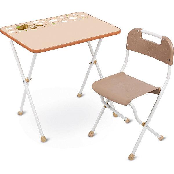 Комплект мебели Nika Kids Алина, бежевыйДетские столы и стулья<br>Характеристики:<br><br>• возраст: от 3 лет;<br>• материал: металл, пластик;<br>• размер: столешницы - 60х45 см, сиденья - 26х29 см;<br>• пенал: нет;<br>• без подставки для ног;<br>• пластиковый стул;<br>• высота: стол - 58 см, спинка стула - 61 см, до сиденья - 35 см;<br>• вес упаковки: 7,15 кг.;<br>• размер упаковки: 75х61,5х16 см;<br>• страна производитель: Россия.<br><br>Комплект из стола и стула от Nika организует собственное рабочее место для малыша. Удобная конструкция делает столик универсальным и для совсем юных, и для подросших детей.<br><br>Поверхность столешницы имеет ламинированное покрытие с обучающими рисунками. Подходит для рисования маркерами на водной основе. Скругленные углы столешницы обеспечивают безопасное использование.<br><br>Сиденье и спинка стула выполнены из качественного пластика, легко моются. Комплект разработан из качественных материалов с учетом правильного развития детской осанки. Отлично подойдет для обучения и игр.<br><br>Комплект «Алина» бежевый КА2/Б можно купить в нашем интернет-магазине.<br>Ширина мм: 750; Глубина мм: 615; Высота мм: 160; Вес г: 7150; Цвет: белый; Возраст от месяцев: 36; Возраст до месяцев: 84; Пол: Унисекс; Возраст: Детский; SKU: 7483579;