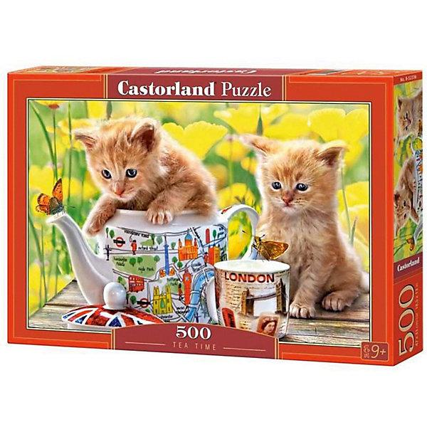 Пазл Castorland Время чаепития - котята 500 деталейПазлы классические<br>Характеристики товара:<br><br>• возраст: от 6 лет;<br>• количество деталей: 500 шт;<br>• материал: картон;<br>• размер упаковки: 32х22х4,7 см;<br>• размер картины: 47х33 см;<br>• вес упаковки: 320 гр.;<br>• страна производитель: Польша.<br><br>Пазл Castorland (Касторлэнд) Время чаепития - котята – это отличный способ увлекательно провести досуг, снять стресс и развить моторику.<br><br>Качество этих пазлов подтверждено миллионами любителей сборки пазлов. Пазлы Castorland собираются легко. Каждая деталь имеет индивидуальную форму и легко соединяется с другой, поэтому у Вас обязательно получится ожидаемый результат - картина собранная собственными руками.<br><br>Пазл Castorland (Касторлэнд) Время чаепития - котята можно купить в нашем интернет-магазине.<br>Ширина мм: 320; Глубина мм: 220; Высота мм: 47; Вес г: 300; Возраст от месяцев: 72; Возраст до месяцев: 2147483647; Пол: Унисекс; Возраст: Детский; SKU: 7487310;
