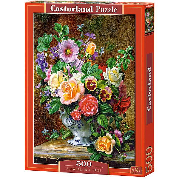 Пазл Castorland Цветы в вазе 500 деталейПазлы классические<br>Характеристики товара:<br><br>• возраст: от 6 лет;<br>• количество деталей: 500 шт;<br>• материал: картон;<br>• размер упаковки: 32х22х4,7 см;<br>• размер картины: 47х33 см;<br>• вес упаковки: 320 гр.;<br>• страна производитель: Польша.<br><br>Пазл Castorland (Касторлэнд) Цветы в вазе – это отличный способ увлекательно провести досуг, снять стресс и развить моторику.<br><br>Качество этих пазлов подтверждено миллионами любителей сборки пазлов. Пазлы Castorland собираются легко. Каждая деталь имеет индивидуальную форму и легко соединяется с другой, поэтому у Вас обязательно получится ожидаемый результат - картина собранная собственными руками.<br><br>Пазл Castorland (Касторлэнд) Цветы в вазе можно купить в нашем интернет-магазине.<br>Ширина мм: 320; Глубина мм: 220; Высота мм: 47; Вес г: 300; Возраст от месяцев: 72; Возраст до месяцев: 2147483647; Пол: Унисекс; Возраст: Детский; SKU: 7487340;