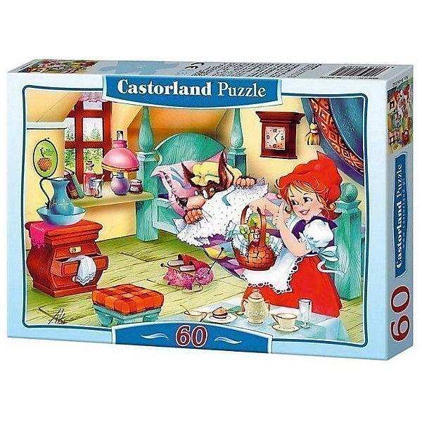 Пазл Castorland Красная Шапочка 60 деталей MIDIПазлы для малышей<br>Характеристики товара:<br><br>• возраст: от 3 лет;<br>• количество деталей: 60 шт;<br>• материал: картон;<br>• размер упаковки: 17,5х13х3,7 см;<br>• размер картины: 32х23 см;<br>• вес упаковки: 150 гр.;<br>• страна производитель: Польша.<br><br>Пазл Castorland (Касторлэнд) Красная Шапочка– это отличный способ увлекательно провести досуг, снять стресс и развить моторику.<br><br>Качество этих пазлов подтверждено миллионами любителей сборки пазлов. Пазлы Castorland собираются легко. Каждая деталь имеет индивидуальную форму и легко соединяется с другой, поэтому у Вас обязательно получится ожидаемый результат - картина собранная собственными руками.<br><br>Пазл Castorland (Касторлэнд) Красная Шапочка можно купить в нашем интернет-магазине.<br>Ширина мм: 180; Глубина мм: 130; Высота мм: 40; Вес г: 150; Возраст от месяцев: 36; Возраст до месяцев: 2147483647; Пол: Унисекс; Возраст: Детский; SKU: 7487343;