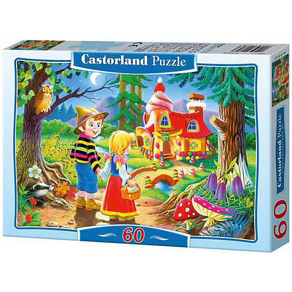 Пазл Castorland Пряничнй домик 60 деталей MIDIПазлы для малышей<br>Характеристики товара:<br><br>• возраст: от 3 лет;<br>• количество деталей: 60 шт;<br>• материал: картон;<br>• размер упаковки: 17,5х13х3,7 см;<br>• размер картины: 32х23 см;<br>• вес упаковки: 150 гр.;<br>• страна производитель: Польша.<br><br>Пазл Castorland (Касторлэнд) Пряничный домик – это отличный способ увлекательно провести досуг, снять стресс и развить моторику.<br><br>Качество этих пазлов подтверждено миллионами любителей сборки пазлов. Пазлы Castorland собираются легко. Каждая деталь имеет индивидуальную форму и легко соединяется с другой, поэтому у Вас обязательно получится ожидаемый результат - картина собранная собственными руками.<br><br>Пазл Castorland (Касторлэнд) Пряничный домик можно купить в нашем интернет-магазине.<br>Ширина мм: 180; Глубина мм: 130; Высота мм: 40; Вес г: 150; Возраст от месяцев: 36; Возраст до месяцев: 2147483647; Пол: Унисекс; Возраст: Детский; SKU: 7487345;