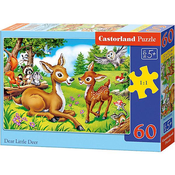 Пазл Castorland Олененок 60 деталей MIDIПазлы для малышей<br>Характеристики товара:<br><br>• возраст: от 3 лет;<br>• количество деталей: 60 шт;<br>• материал: картон;<br>• размер упаковки: 17,5х13х3,7 см;<br>• размер картины: 32х23 см;<br>• вес упаковки: 150 гр.;<br>• страна производитель: Польша.<br><br>Пазл Castorland (Касторлэнд)Олененок – это отличный способ увлекательно провести досуг, снять стресс и развить моторику.<br><br>Качество этих пазлов подтверждено миллионами любителей сборки пазлов. Пазлы Castorland собираются легко. Каждая деталь имеет индивидуальную форму и легко соединяется с другой, поэтому у Вас обязательно получится ожидаемый результат - картина собранная собственными руками.<br><br>Пазл Castorland (Касторлэнд)Олененок можно купить в нашем интернет-магазине.<br>Ширина мм: 180; Глубина мм: 130; Высота мм: 40; Вес г: 150; Возраст от месяцев: 36; Возраст до месяцев: 2147483647; Пол: Унисекс; Возраст: Детский; SKU: 7487357;