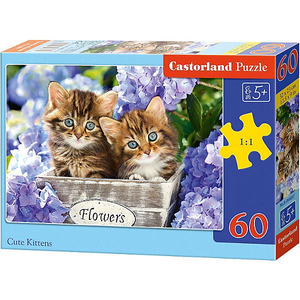 Пазл Castorland Милые котята 60 деталей MIDIПазлы для малышей<br>Характеристики товара:<br><br>• возраст: от 3 лет;<br>• количество деталей: 60 шт;<br>• материал: картон;<br>• размер упаковки: 17,5х13х3,7 см;<br>• размер картины: 32х23 см;<br>• вес упаковки: 150 гр.;<br>• страна производитель: Польша.<br><br>Пазл Castorland (Касторлэнд)Милые котята – это отличный способ увлекательно провести досуг, снять стресс и развить моторику.<br><br>Качество этих пазлов подтверждено миллионами любителей сборки пазлов. Пазлы Castorland собираются легко. Каждая деталь имеет индивидуальную форму и легко соединяется с другой, поэтому у Вас обязательно получится ожидаемый результат - картина собранная собственными руками.<br><br>Пазл Castorland (Касторлэнд)Милые котята можно купить в нашем интернет-магазине.<br>Ширина мм: 180; Глубина мм: 130; Высота мм: 40; Вес г: 150; Возраст от месяцев: 36; Возраст до месяцев: 2147483647; Пол: Унисекс; Возраст: Детский; SKU: 7487359;