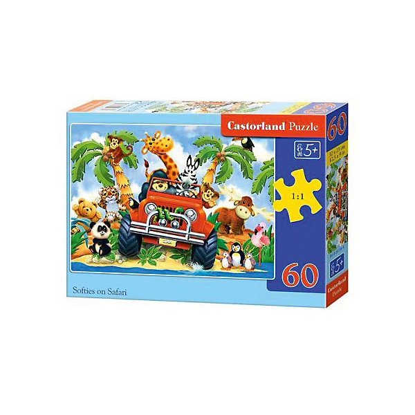 Пазл Castorland Сафари 60 деталей MIDIПазлы для малышей<br>Характеристики товара:<br><br>• возраст: от 3 лет;<br>• количество деталей: 60 шт;<br>• материал: картон;<br>• размер упаковки: 17,5х13х3,7 см;<br>• размер картины: 32х23 см;<br>• вес упаковки: 150 гр.;<br>• страна производитель: Польша.<br><br>Пазл Castorland (Касторлэнд) Сафари – это отличный способ увлекательно провести досуг, снять стресс и развить моторику.<br><br>Качество этих пазлов подтверждено миллионами любителей сборки пазлов. Пазлы Castorland собираются легко. Каждая деталь имеет индивидуальную форму и легко соединяется с другой, поэтому у Вас обязательно получится ожидаемый результат - картина собранная собственными руками.<br><br>Пазл Castorland (Касторлэнд) Сафари можно купить в нашем интернет-магазине.<br><br>Ширина мм: 180<br>Глубина мм: 130<br>Высота мм: 40<br>Вес г: 150<br>Возраст от месяцев: 36<br>Возраст до месяцев: 2147483647<br>Пол: Унисекс<br>Возраст: Детский<br>SKU: 7487364