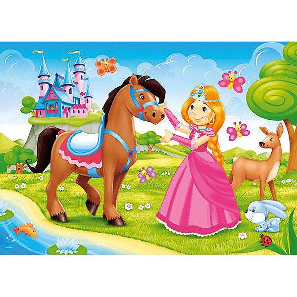 Пазл Castorland Принцесса 60 деталей MIDIПазлы для малышей<br>Характеристики товара:<br><br>• возраст: от 3 лет;<br>• количество деталей: 60 шт;<br>• материал: картон;<br>• размер упаковки: 17,5х13х3,7 см;<br>• размер картины: 32х23 см;<br>• вес упаковки: 150 гр.;<br>• страна производитель: Польша.<br><br>Пазл Castorland (Касторлэнд) Принцесса – это отличный способ увлекательно провести досуг, снять стресс и развить моторику.<br><br>Качество этих пазлов подтверждено миллионами любителей сборки пазлов. Пазлы Castorland собираются легко. Каждая деталь имеет индивидуальную форму и легко соединяется с другой, поэтому у Вас обязательно получится ожидаемый результат - картина собранная собственными руками.<br><br>Пазл Castorland (Касторлэнд) Принцесса можно купить в нашем интернет-магазине.<br>Ширина мм: 180; Глубина мм: 130; Высота мм: 40; Вес г: 150; Возраст от месяцев: 36; Возраст до месяцев: 2147483647; Пол: Унисекс; Возраст: Детский; SKU: 7487366;