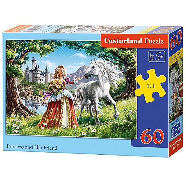 Пазл Castorland Принцесса 60 деталей MIDIПазлы для малышей<br>Характеристики товара:<br><br>• возраст: от 3 лет;<br>• количество деталей: 60 шт;<br>• материал: картон;<br>• размер упаковки: 17,5х13х3,7 см;<br>• размер картины: 32х23 см;<br>• вес упаковки: 150 гр.;<br>• страна производитель: Польша.<br><br>Пазл Castorland (Касторлэнд) Принцесса – это отличный способ увлекательно провести досуг, снять стресс и развить моторику.<br><br>Качество этих пазлов подтверждено миллионами любителей сборки пазлов. Пазлы Castorland собираются легко. Каждая деталь имеет индивидуальную форму и легко соединяется с другой, поэтому у Вас обязательно получится ожидаемый результат - картина собранная собственными руками.<br><br>Пазл Castorland (Касторлэнд) Принцесса можно купить в нашем интернет-магазине.<br>Ширина мм: 180; Глубина мм: 130; Высота мм: 40; Вес г: 150; Возраст от месяцев: 36; Возраст до месяцев: 2147483647; Пол: Унисекс; Возраст: Детский; SKU: 7487368;