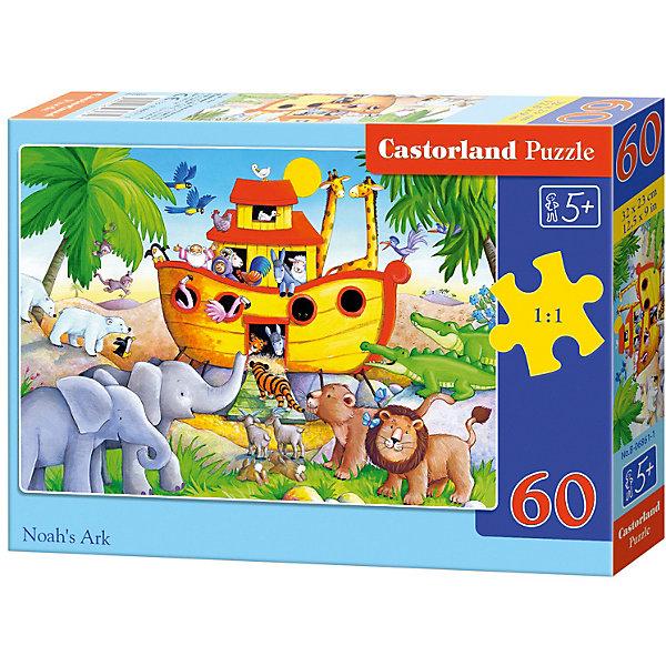 Пазл Castorland Ноев ковчег 60 деталей MIDIПазлы для малышей<br>Характеристики товара:<br><br>• возраст: от 3 лет;<br>• количество деталей: 60 шт;<br>• материал: картон;<br>• размер упаковки: 17,5х13х3,7 см;<br>• размер картины: 32х23 см;<br>• вес упаковки: 150 гр.;<br>• страна производитель: Польша.<br><br>Пазл Castorland (Касторлэнд) Ноев ковчег – это отличный способ увлекательно провести досуг, снять стресс и развить моторику.<br><br>Качество этих пазлов подтверждено миллионами любителей сборки пазлов. Пазлы Castorland собираются легко. Каждая деталь имеет индивидуальную форму и легко соединяется с другой, поэтому у Вас обязательно получится ожидаемый результат - картина собранная собственными руками.<br><br>Пазл Castorland (Касторлэнд) Ноев ковчег можно купить в нашем интернет-магазине.<br>Ширина мм: 180; Глубина мм: 130; Высота мм: 40; Вес г: 150; Возраст от месяцев: 36; Возраст до месяцев: 2147483647; Пол: Унисекс; Возраст: Детский; SKU: 7487370;