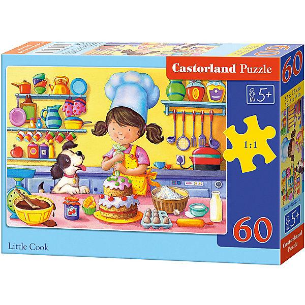 Пазл Castorland Маленький повар 60 деталей MIDIПазлы для малышей<br>Характеристики товара:<br><br>• возраст: от 3 лет;<br>• количество деталей: 60 шт;<br>• материал: картон;<br>• размер упаковки: 17,5х13х3,7 см;<br>• размер картины: 32х23 см;<br>• вес упаковки: 150 гр.;<br>• страна производитель: Польша.<br><br>Пазл Castorland (Касторлэнд) Маленький повар – это отличный способ увлекательно провести досуг, снять стресс и развить моторику.<br><br>Качество этих пазлов подтверждено миллионами любителей сборки пазлов. Пазлы Castorland собираются легко. Каждая деталь имеет индивидуальную форму и легко соединяется с другой, поэтому у Вас обязательно получится ожидаемый результат - картина собранная собственными руками.<br><br>Пазл Castorland (Касторлэнд) Маленький повар можно купить в нашем интернет-магазине.<br>Ширина мм: 180; Глубина мм: 130; Высота мм: 40; Вес г: 150; Возраст от месяцев: 36; Возраст до месяцев: 2147483647; Пол: Унисекс; Возраст: Детский; SKU: 7487372;