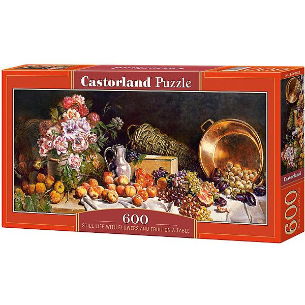 Пазл Castorland Натюрморт с цветами 600 деталейПазлы классические<br>Характеристики товара:<br><br>• возраст: от 6 лет;<br>• количество деталей: 600 шт;<br>• материал: картон;<br>• размер упаковки: 35х20х0,5 см;<br>• размер картины: 60х30 см;<br>• вес упаковки: 500 гр.;<br>• страна производитель: Польша.<br><br>Пазл Castorland (Касторлэнд) Натюрморт с цветами – это отличный способ увлекательно провести досуг, снять стресс и развить моторику.<br><br>Качество этих пазлов подтверждено миллионами любителей сборки пазлов. Пазлы Castorland собираются легко. Каждая деталь имеет индивидуальную форму и легко соединяется с другой, поэтому у Вас обязательно получится ожидаемый результат - картина собранная собственными руками.<br><br>Пазл Castorland (Касторлэнд) Натюрморт с цветами  можно купить в нашем интернет-магазине.<br>Ширина мм: 350; Глубина мм: 200; Высота мм: 50; Вес г: 500; Возраст от месяцев: 84; Возраст до месяцев: 2147483647; Пол: Унисекс; Возраст: Детский; SKU: 7487384;