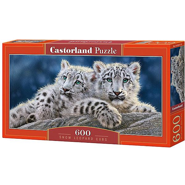 Пазл Castorland Снежные леопарды 600 деталейПазлы классические<br>Характеристики товара:<br><br>• возраст: от 6 лет;<br>• количество деталей: 600 шт;<br>• материал: картон;<br>• размер упаковки: 35х20х0,5 см;<br>• размер картины: 60х30 см;<br>• вес упаковки: 500 гр.;<br>• страна производитель: Польша.<br><br>Пазл Castorland (Касторлэнд) Снежные леопарды – это отличный способ увлекательно провести досуг, снять стресс и развить моторику.<br><br>Качество этих пазлов подтверждено миллионами любителей сборки пазлов. Пазлы Castorland собираются легко. Каждая деталь имеет индивидуальную форму и легко соединяется с другой, поэтому у Вас обязательно получится ожидаемый результат - картина собранная собственными руками.<br><br>Пазл Castorland (Касторлэнд) Снежные леопарды можно купить в нашем интернет-магазине.<br>Ширина мм: 350; Глубина мм: 200; Высота мм: 50; Вес г: 500; Возраст от месяцев: 84; Возраст до месяцев: 2147483647; Пол: Унисекс; Возраст: Детский; SKU: 7487385;