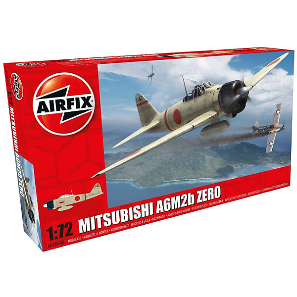 Сборная модель Airfix Истребитель Mitsubishi A6M2b Zero 1:72Самолеты и вертолеты<br>Характеристики:<br><br>• возраст: от 8 лет;<br>• материал: пластик;<br>• масштаб: 1:72;<br>• количество элементов: 47;<br>• схема покраски;<br>• клей и краски: не в наборе;<br>• длина модели: 12,6 см;<br>• размах крыльев: 16,6 см;<br>• вес упаковки: 89 гр.;<br>• размер упаковки: 23,4х12,6х3,1 см;<br>• страна бренда: Великобритания.<br><br>Модель для сборки Mitsubishi A6M2b Zero от Airfix изображает одноименный военный истребитель. Каждая деталь выполнена из качественного пластика, элементы детализированы под покраску.<br><br>В подробной инструкции описаны шаги к созданию идентичной копии самолета. Конструирование модели развивает усидчивость и внимательность, повышает творческие способности и задействует пространственное мышление.<br><br>Готовая модель может стать отличным подарком близким, личным сувениром или частью коллекции сборных моделей.<br><br>Сборную модель Mitsubishi A6M2b Zero 1:72 можно купить в нашем интернет-магазине.<br>Ширина мм: 234; Глубина мм: 126; Высота мм: 31; Вес г: 89; Возраст от месяцев: 96; Возраст до месяцев: 2147483647; Пол: Мужской; Возраст: Детский; SKU: 7490421;